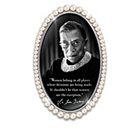 Ruth Bader Ginsburg Portraits & Quotes In Faux Pearl Frames