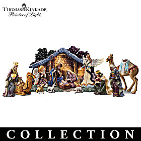 Thomas Kinkade Star Of Hope Nativity Collection