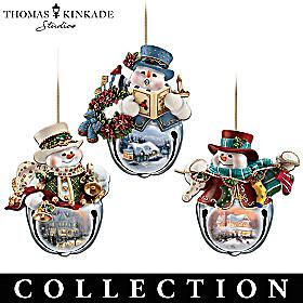 Thomas Kinkade Snow-Bell Ornament Collection