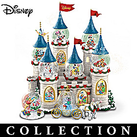 Disney's Christmas At The Castle Snowglobe Collection