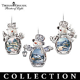 Winter Reflections Snowman Ornament Collection
