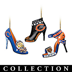 Chicago Bears Steppin' Out Stiletto Ornament Collection