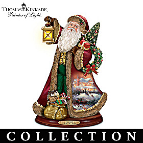 Thomas Kinkade Season Of Harmony Caroling Santa Collection