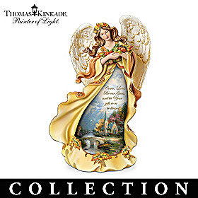 Thomas Kinkade Giving Thanks Figurine Collection