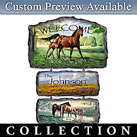 Regal Companions Personalized Welcome Sign Collection
