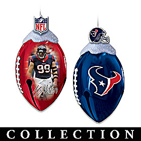 Houston Texans FootBells Ornament Collection