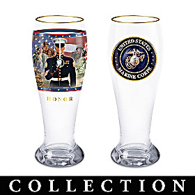 USMC The Few The Proud Pilsner Glass Collection