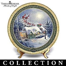 Thomas Kinkade Cherished Christmas Memories Plate Collection