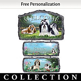 Lovable Shih Tzus Personalized Welcome Sign Collection