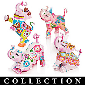 Margaret Le Van Pink Elephant Figurine Collection