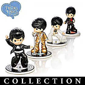 Precious Moments I Heart Elvis Figurine Collection