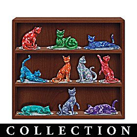 Rarest Gem Cats Of The World Figurine Collection