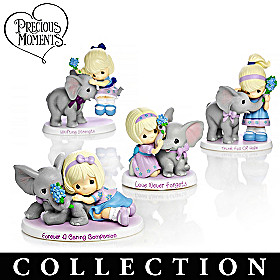 Precious Moments Parade Of Purple Figurine Collection
