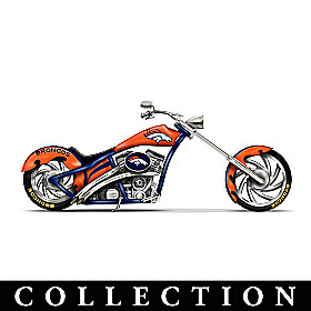 Denver Broncos Motorcycle Figurine Collection