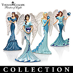 Thomas Kinkade Whispers Of Hope Angels Figurine Collection