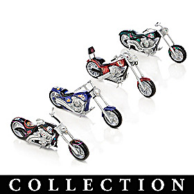 Spirit Riders Sugar Skull Bike Sculpture Collection