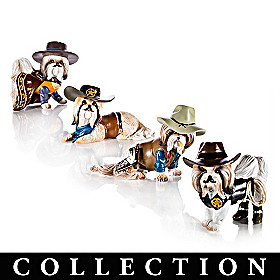 Spurs 'N Fur Shih Tzu Figurine Collection
