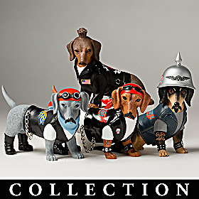 Live Fur-ee And Ride Hard Dachshund Figurine Collection