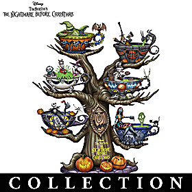 Tea Time In Halloween Town Tabletop Tree Collection