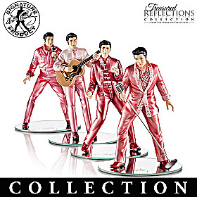 Rock Pink With Elvis Figurine Collection