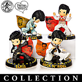 Precious Moments Rocking With The King Figurine Collection
