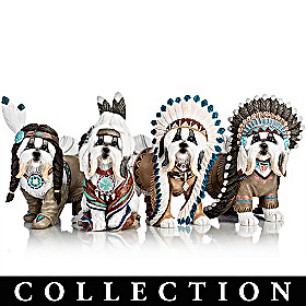 Feathers 'N Fur Shih Tzu Figurine Collection