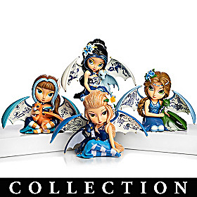 Blue Willow Beauty Figurine Collection