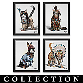 Feathers 'N Fur Kittens Framed Wall Decor Collection
