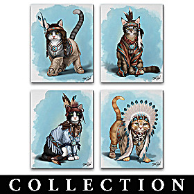 Feathers 'N Fur Kittens Canvas Wall Decor Collection