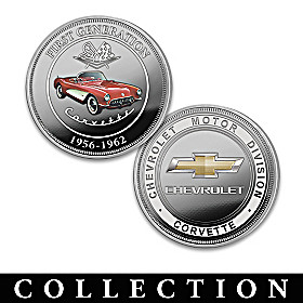 Officially Licensed Chevrolet Corvette Proof Coin Collection