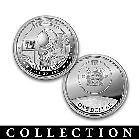 The Race To The Moon Silver Dollar Coin Collection