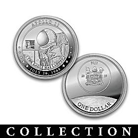 The Apollo 11 50th Anniversary Silver Dollar Coin Collection