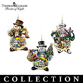 Thomas Kinkade Memories of Christmas Ornament Collection
