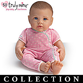 Dark Brown Hair, Blue Eyes Doll & More Collection