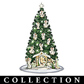 Emerald Elegance Christmas Tree Nativity Collection