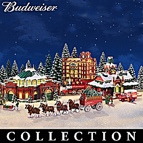 Budweiser Holiday Village Collection