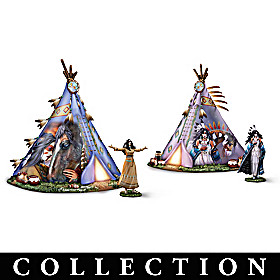 Spirit Of The Sacred Village Sculpture Collection