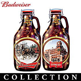 Budweiser Growler Sculpture Collection