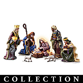 Thomas Kinkade O' Holy Night Nativity Collection