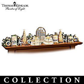 Thomas Kinkade Winter Elegance Sculpture Collection