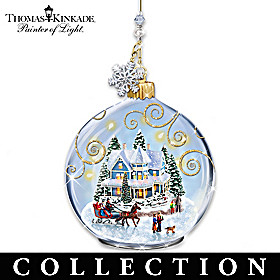 Thomas Kinkade Celebrate The Season Ornament Collection