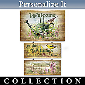 Marjolein Bastin Seasonal Serenade Welcome Sign Collection
