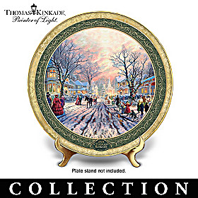 Thomas Kinkade Cherished Christmas Memories Plate Collection