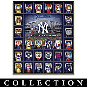 New York Yankees Legacy Of Champions Shot Glass Collection