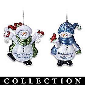 Sparkling Snow Friends Ornament Collection