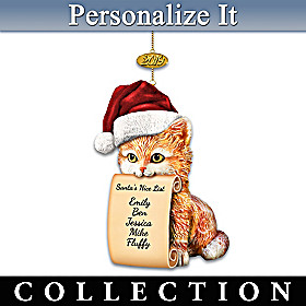 Making Santa's Good List Personalized Ornament Collection