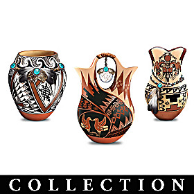 Pueblo-Style Replica Pottery Sculpture Collection