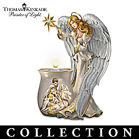 Thomas Kinkade Blessings Of The Season Candleholder Collection