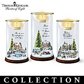 Thomas Kinkade Holiday Village Candle Collection