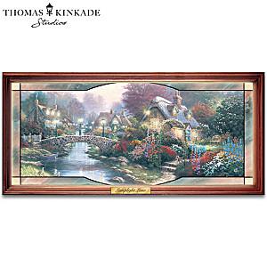 """Thomas Kinkade """"Garden Of Light"""" Stained-Glass Panorama"""